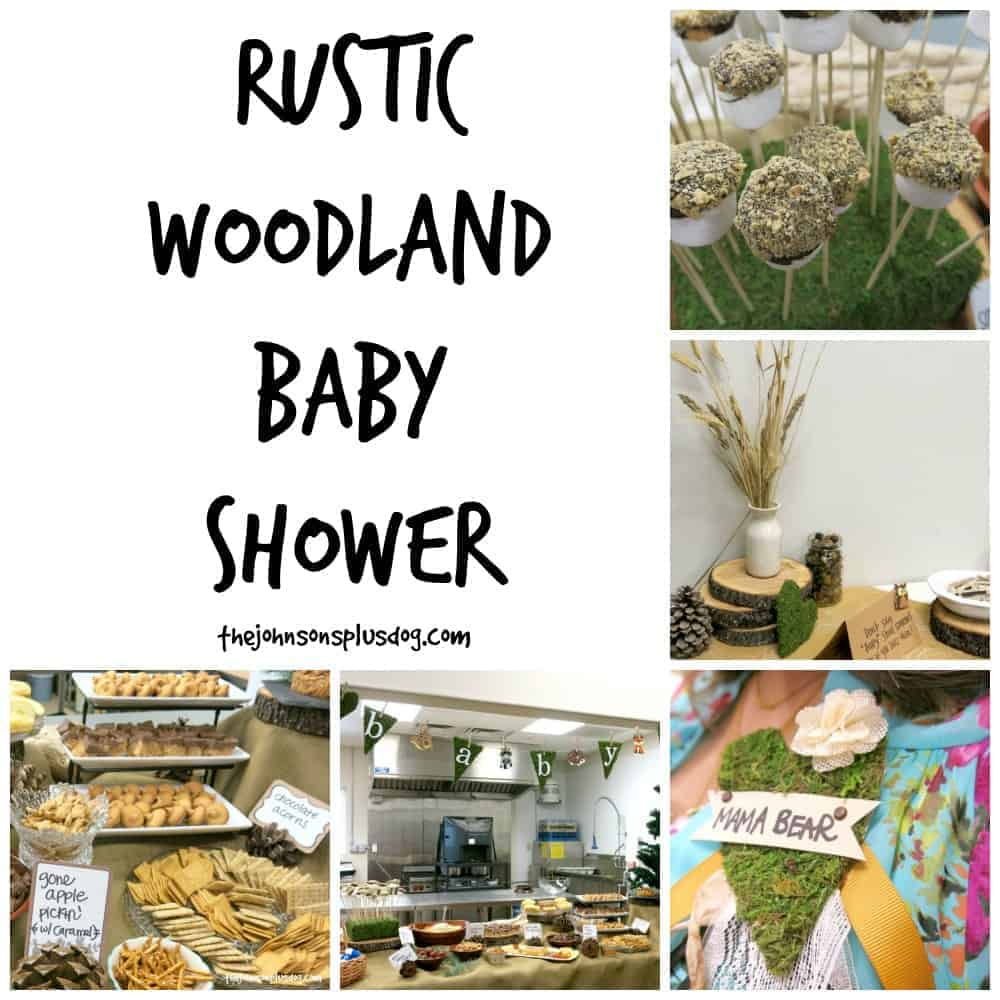 Rustic woodland baby shower the johnsons plus dog