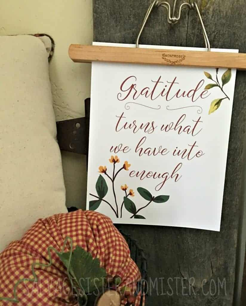 Fall Gratitude printable from Salvage Sister and Mister