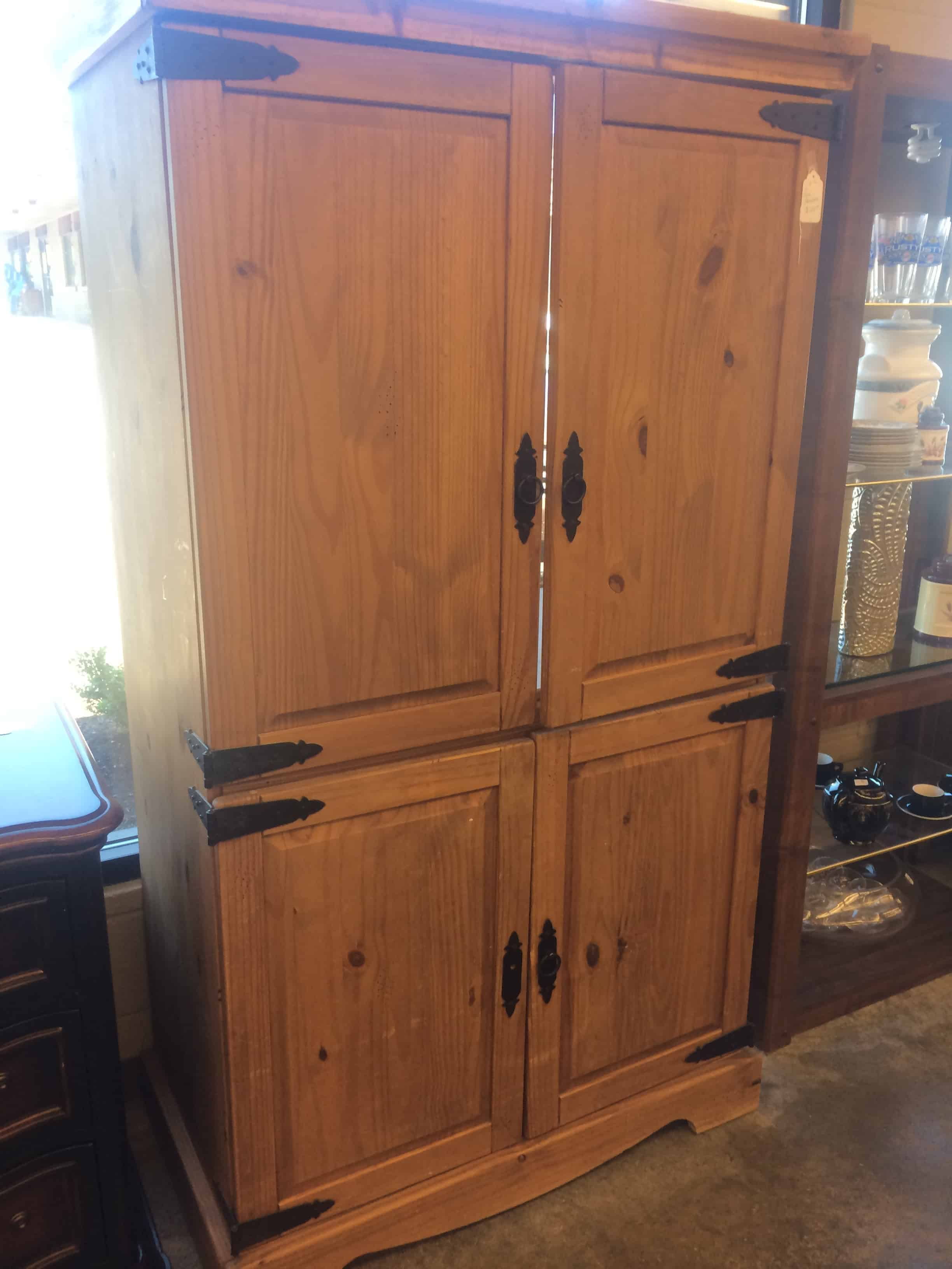 Upcycled entertainment center converted to pantry making for Upcycled entertainment center