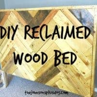 Make your own bed with pallet wood