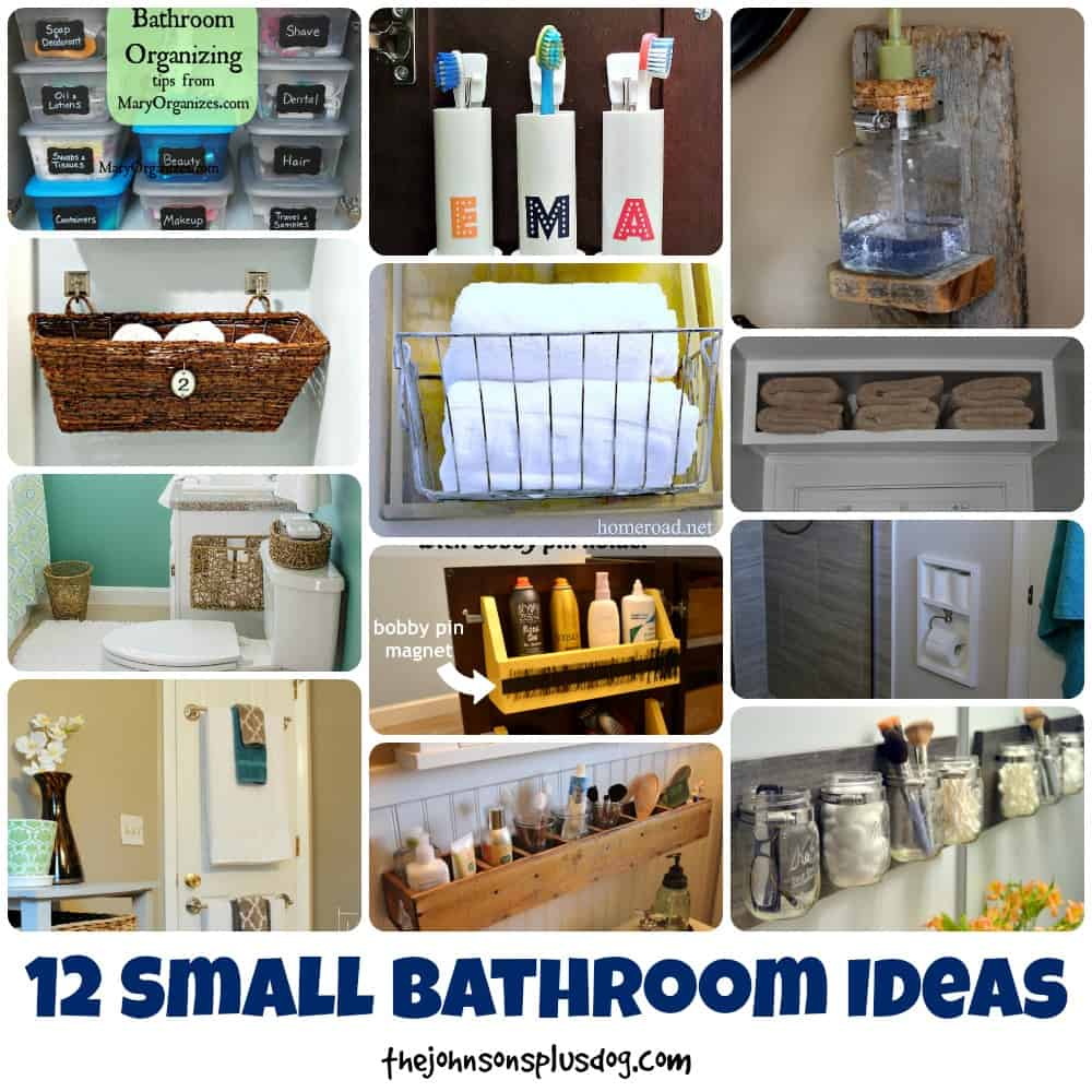 12 Small Bathroom Ideas | Small Bathroom Organizing Tips
