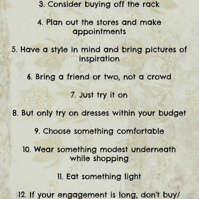 15 Tips for Wedding Dress Shopping | Wedding Dress Shopping Advice