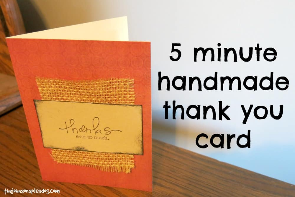 5 Minute Handmade Thank You Card Making Manzanita