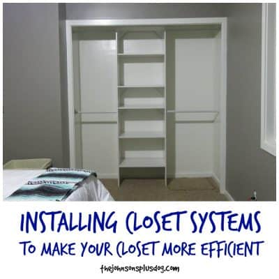 Installing Closet Systems to make your closet more efficient | Closet Organization | Small closet ideas