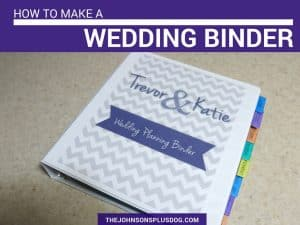 How To Make A Wedding Binder | DIY Wedding Binder | Wedding Planner