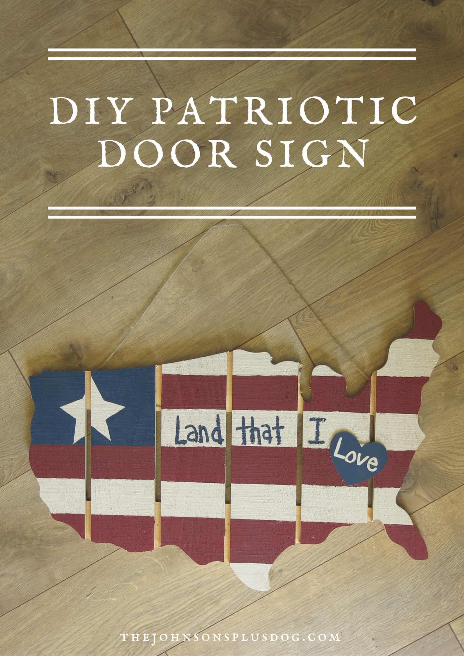 DIY Patriotic Door Sign