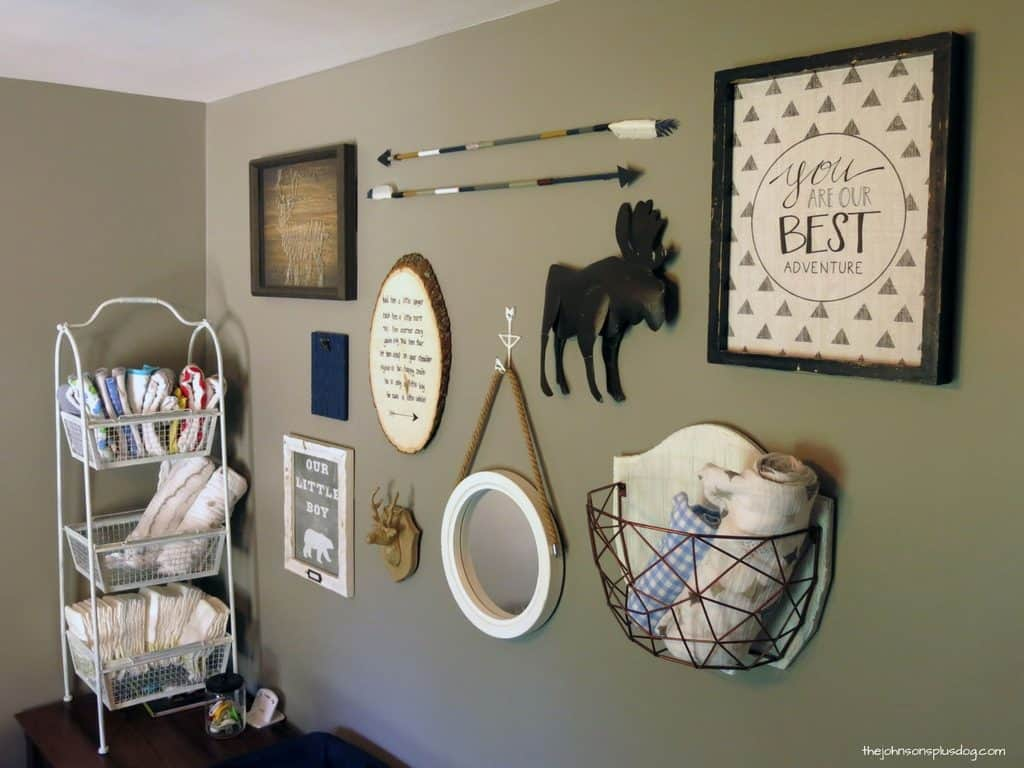 diy arrow decor for baby boy rustic woodland nursery. Black Bedroom Furniture Sets. Home Design Ideas