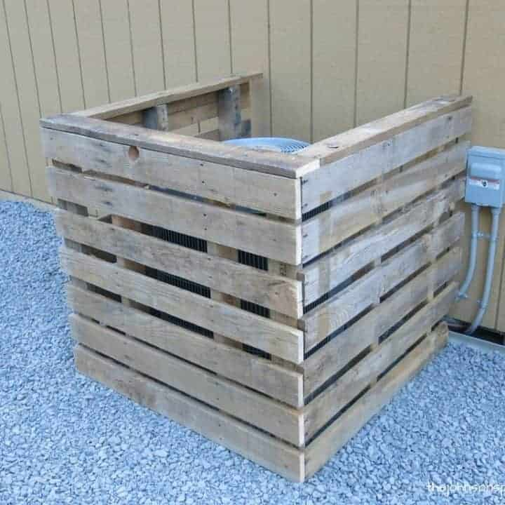 How To Make A DIY Pallet AC Unit Cover