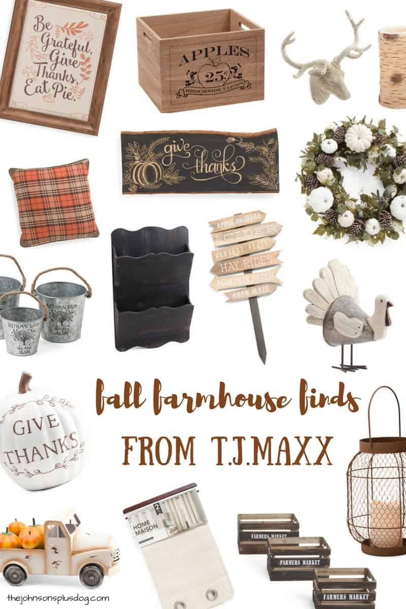 Fall Farmhouse Finds from T.J.Maxx