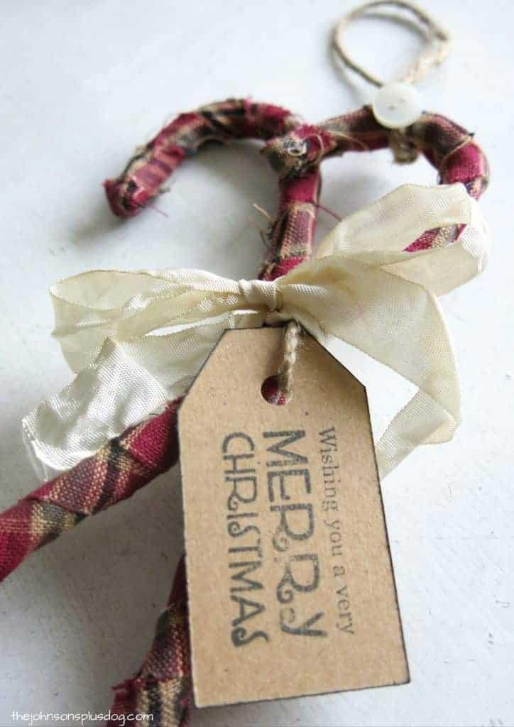 DIY Homespun Fabric Christmas Ornament - 4 Different Tutorials