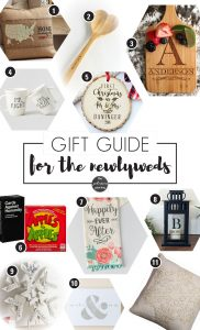 Gift Guide for Newlyweds | Gift for Newlyweds | Christmas Gift Ideas | What to buy for Newlyweds at Christmas | Newlywed Christmas Present