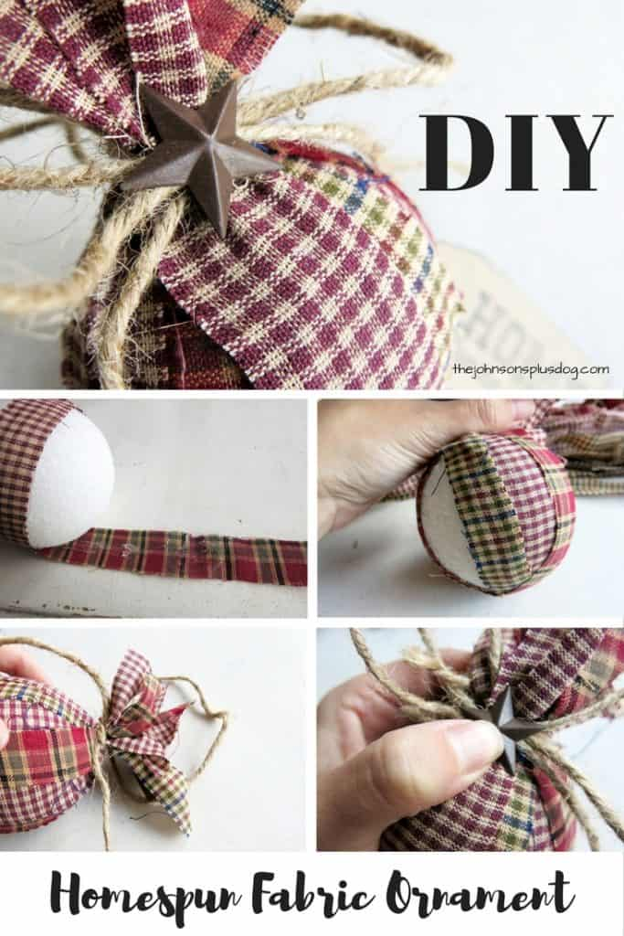 Diy Christmas Decorations Nz : Diy homespun fabric christmas ornament different tutorials