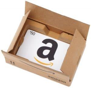 Amazon Gift Card in mini box