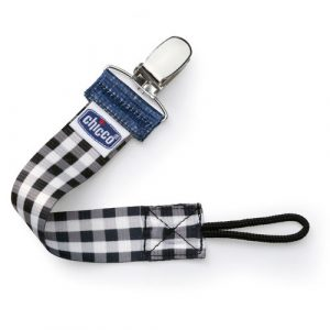 Chicco plaid pacifier clip