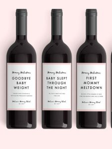 Mommy Milestone Wine Labels