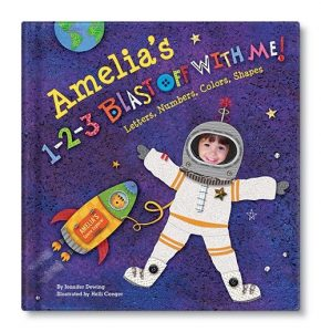 Amelia's 124 Blast off with me customized personalized book for child from I See Me!