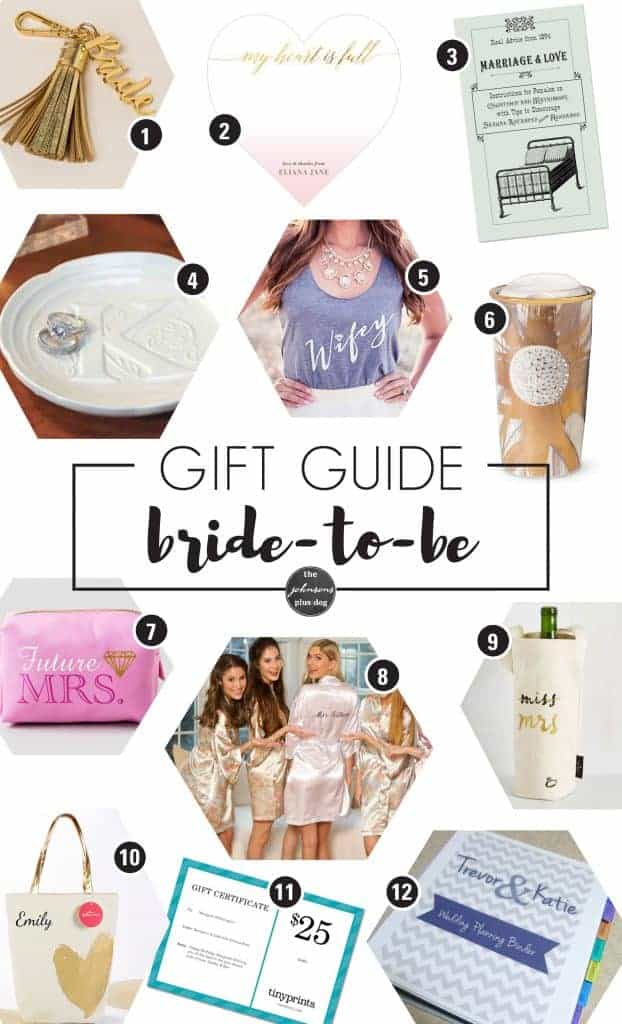 Wedding Gift List Guide : Bridal Shower Gifts from EtsyThe Johnsons Plus Dog