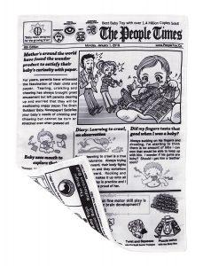 Crinkle newspaper