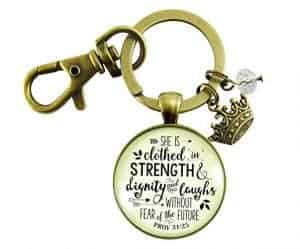 Proverbs 31 Inspirational Keychain