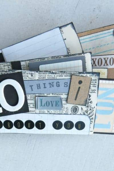 Cardboard Roll Mini Album – 10 Things I Love About You