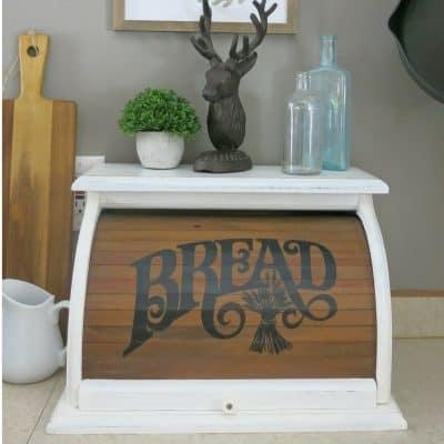Vintage Bread Box Chalk Paint Makeover