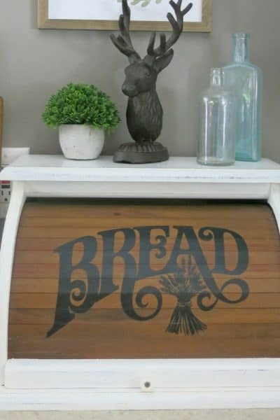 Vintage Bread Box Chalk Paint Makeover