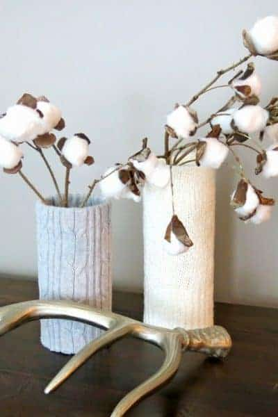 Cozy Sweater Wrapped Vases