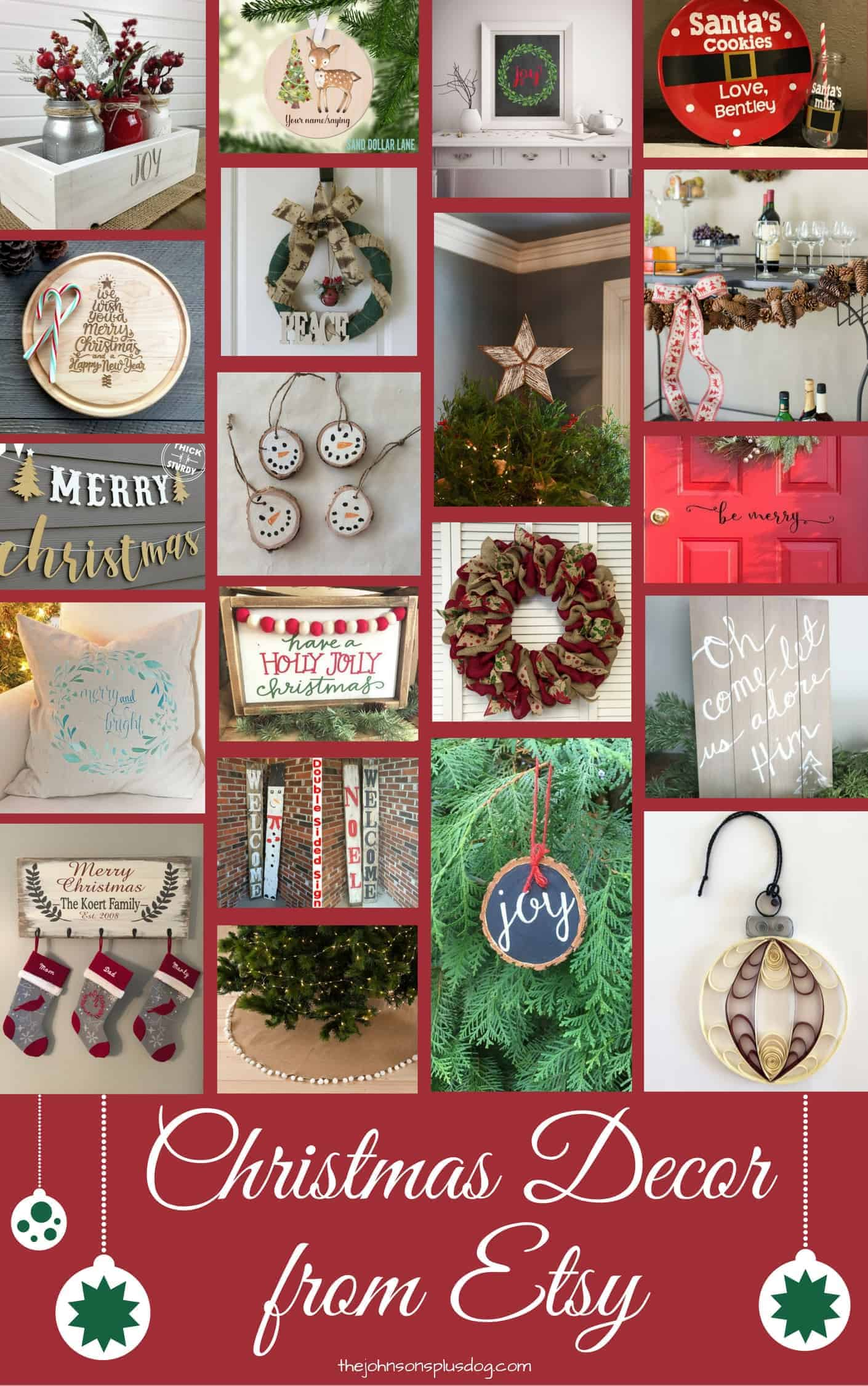 Christmas Decor from Etsy