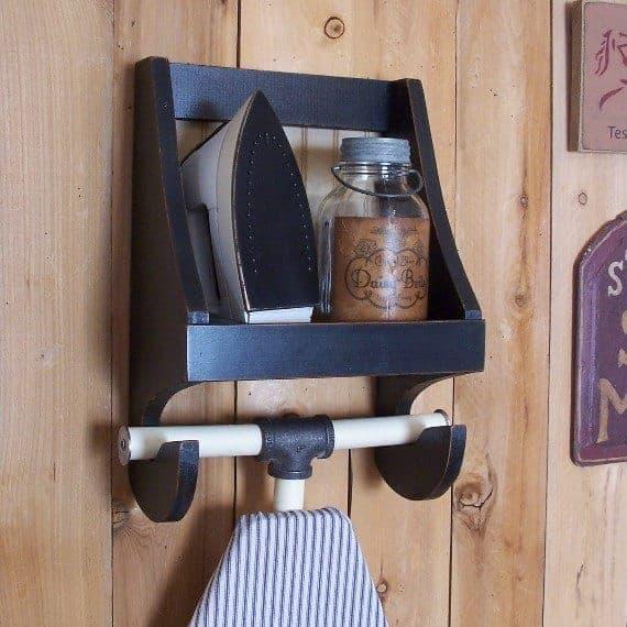 Ironing Board storage shelf from Sawdusty