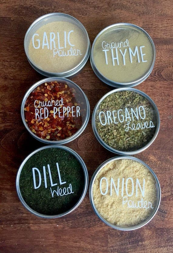 Magnetic Spice Tins by South Upper Street