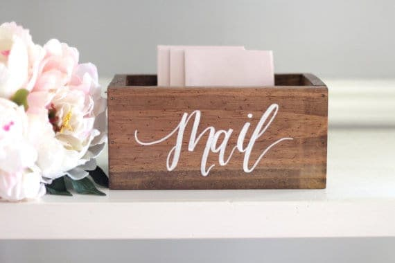 Mail box from Etsy | Home Storage Solutions