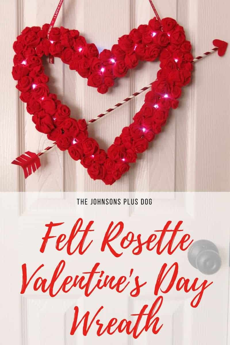 Felt Rosette Valentine's Day Wreath + Giveaway