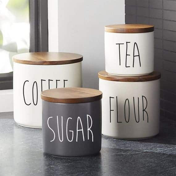 Kitchen Canister labels from Blue Designs Co