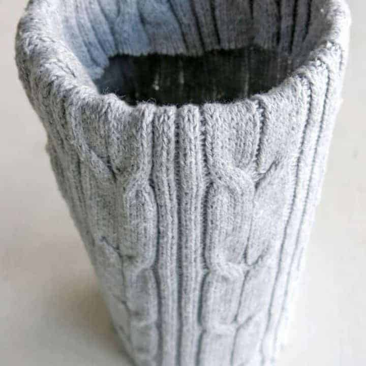 How to Make Cozy Sweater Wrapped Vases