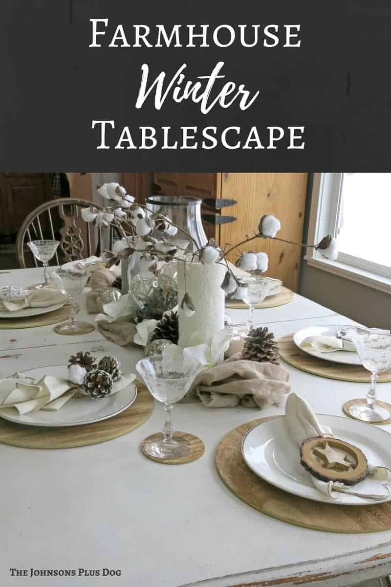 Farmhouse Winter Tablescape