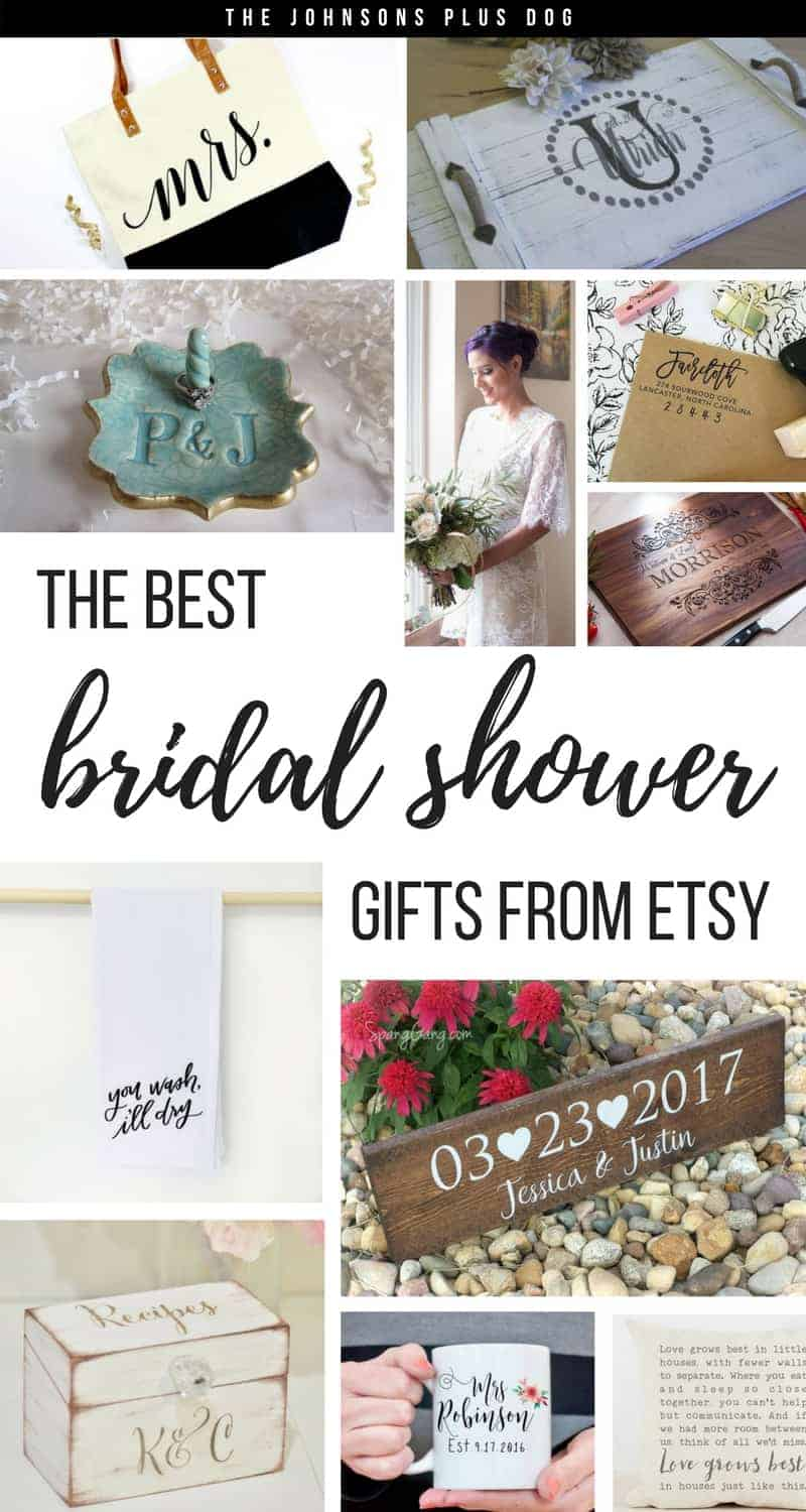 best bridal shower themes bridal shower gifts from etsy the johnsons plus 27892