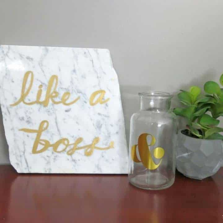 How To Make Glam Office Decor with Painted Marble