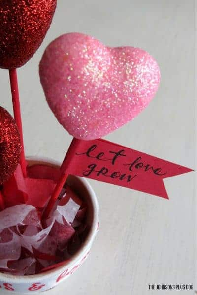 DIY Valentine's Day Dollar Store Craft – Pot of Hearts