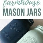 Painted Farmhouse Mason Jars
