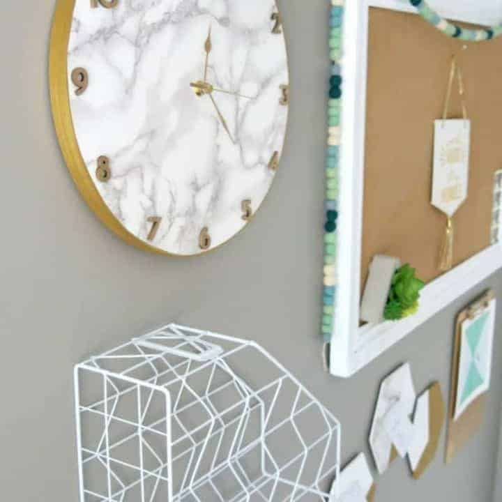 How to Make Marble Contact Paper Clock