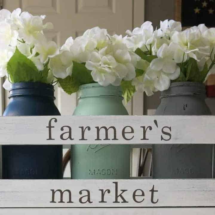 How to Make Farmer's Market Farmhouse Crate Centerpiece