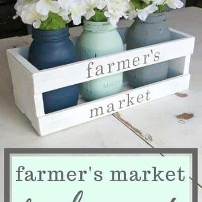 Farmer's Market Farmhouse Crate Centerpiece