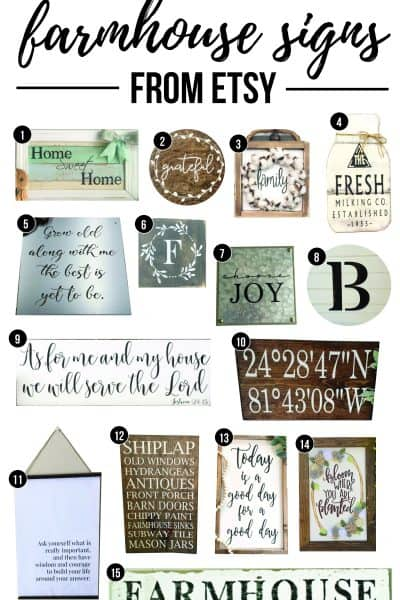 Farmhouse Signs From Etsy