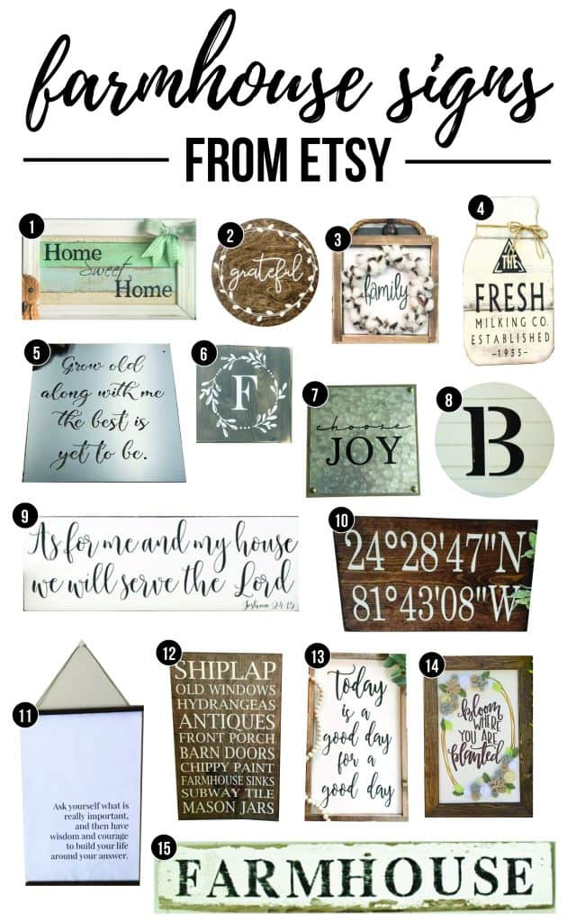 Farmhouse Signs From Etsy Get The Fixer Upper Style