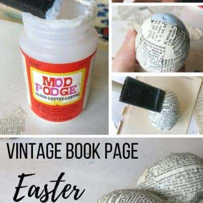 How to Upcycle Plastic Easter Eggs with Vintage Book Pages
