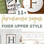 show 4 different farmhouse signs