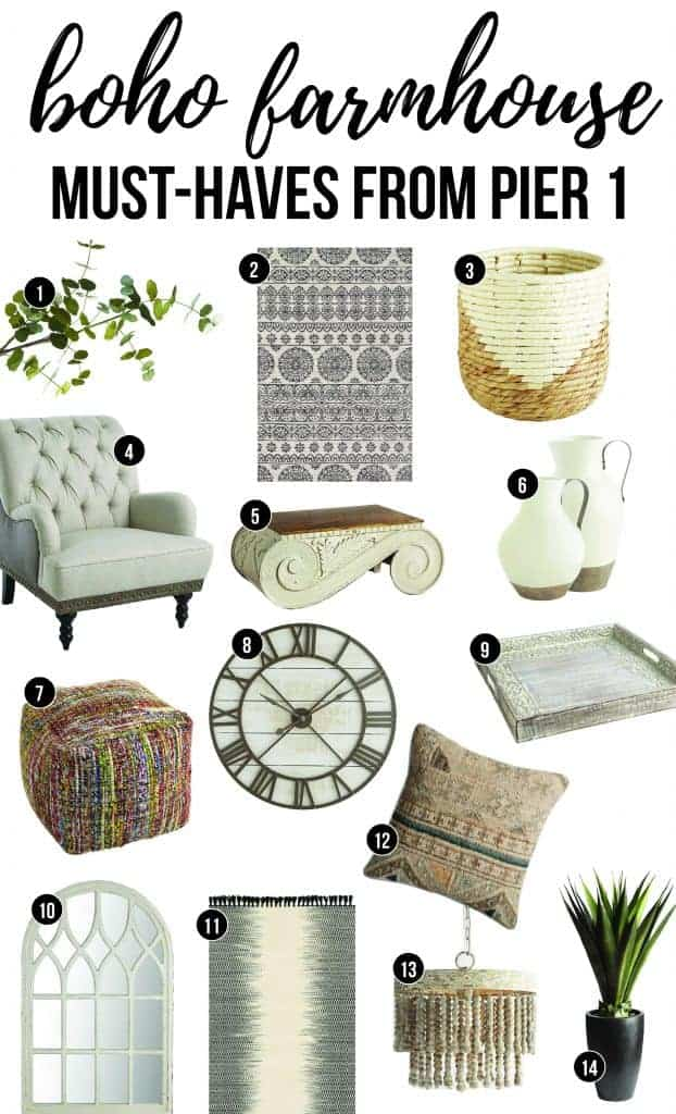 Boho Farmhouse Must Haves Form Pier 1 Get The Look