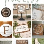 shows 9 different farmhouse signs with text overlay that says Farmhouse signs from Etsy