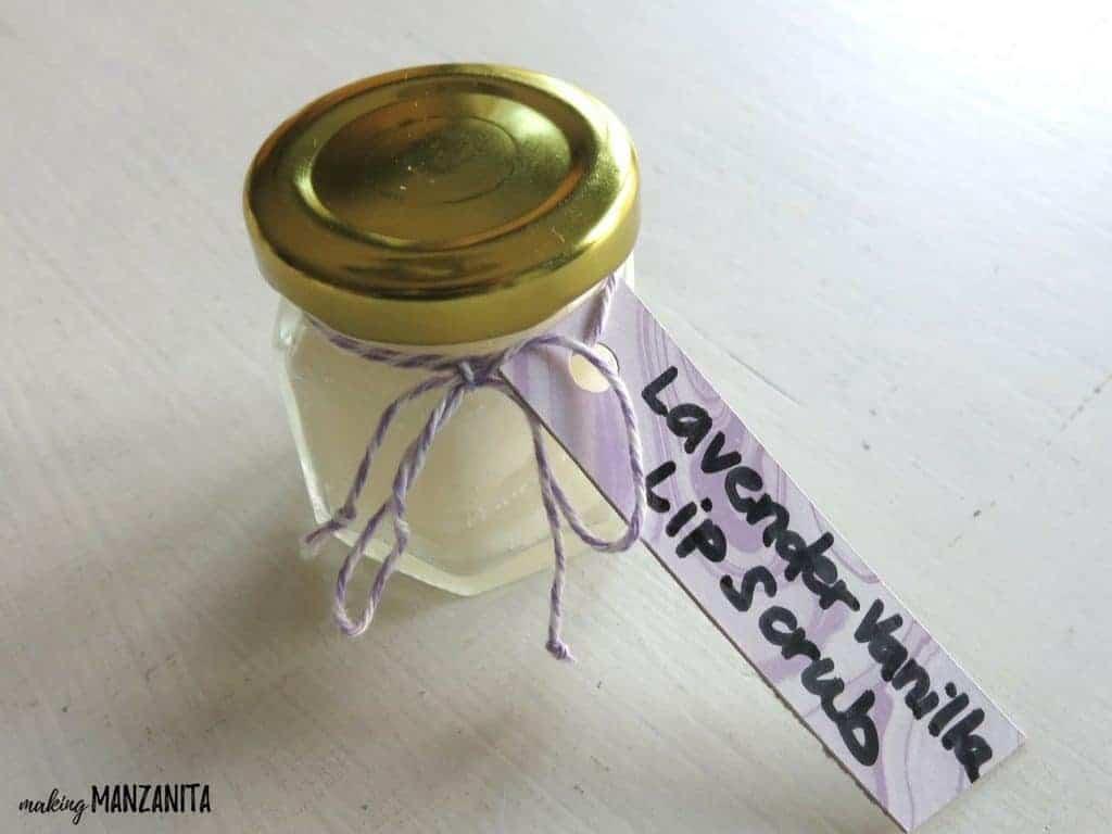 DIY Lavender Vanilla Lip Scrub for Mother's Day | DIY Mother's Day Gift | Make your own lip scrub | DIY Lip scrub | Sugar scrub for lips | Essential Oil DIY | Lavender Essential Oil | Coconut Oil | Ways to use Coconut Oil | Pamper Mom for Mother's Day | Crafts kids can make for Mom for Mothers Day | Homemade lip scrub | Crafts for Mother's Day | How to pamper Mom | Relaxing lip scrub