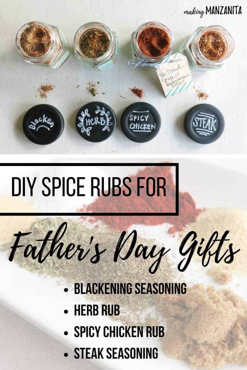 How to make spice rubs | DIY Spice Rubs for Father's Day Gifts | Easy DIY gift for Father's Day | Father's Day Gift Idea | Make your own spice jars | Make your own spice rubs | DIY Spice rubs for meat | Blackening Seasoning | Dry Herb Rub | Spicy Chicken Rub | Steak Seasoning | Gifts for Father's Day that kids can make | Easy Father's Day DIY | Gift for him | Gift for dad | Gift for husband | Easy DIY Gift for Dad | Kid's DIYs for Fathers Day | Dads Day Gifts | Dad's Day Gift Idea